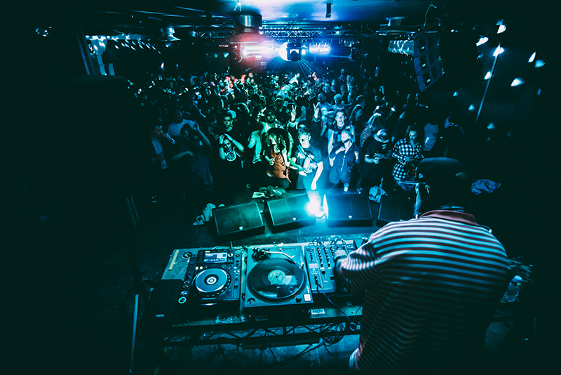 DJ and people dancing at Jamm Brixton