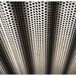Perforated metal ceiling